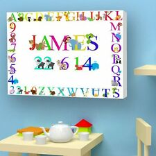 Personalised CHRISTENING CANVAS. Perfect Gift With BABY NAME. Baby Canvas