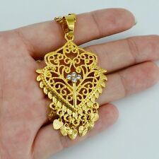 Gold Plated Link Chain Round Pendant Necklaces for Women JEL002