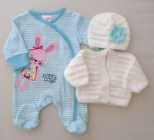 3-5lbs Tiny Baby Premature Girls Sleepsuit Hand Knitted Cardigan Hat Bunny
