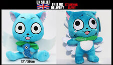 FAIRY TAIL Cat Happy hold fish Soft Plush Toy Doll 12 Inches Tall cute gift 30cm