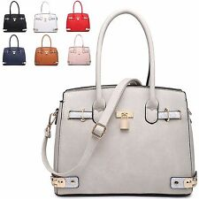 Ladies Designer Faux Leather Padlock Style Handbag Shoulder Bag Tote Bag M34925