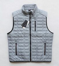 NWT Tommy Hilfiger Men's Lightweight Quilted Vest Jacket, Gray, Size: XL