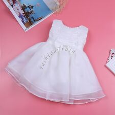 Baby Girls Baptism Flower Kids Sleeveless Wedding Party Christening Tutu Dress
