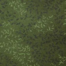 Quilt Fabric Quilting Cotton Calico Green Tonal Leaves Print: FQ 17x22