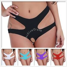 Sexy Women Lady Cut Out Lingerie Thong Open Crotch Crotchles Underwear Plus Size