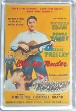 Love Me Tender Elvis Presley Debra Paget movie poster keyring Magnet - Egan
