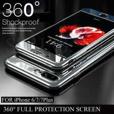 Hybrid 360° Ultra thin Mirror Case+Tempered Glass Cover For Apple iPhone Model