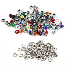 100pcs 4mm Colorful Metal Eyelets w/ Washer DIY Leather Craft Scrapbooking Card