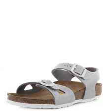 Kids Girls Birkenstock Rio Magic Galaxy Silver Glitter Metallic Sandals Shu Size