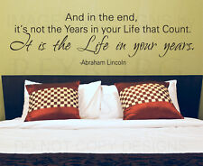 Wall Decal Quote Sticker Vinyl Lettering Live a Good Life Abraham Lincoln IN75