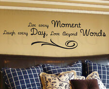 Wall Decal Sticker Quote Vinyl Art Lettering Decorative Live Every Moment I20