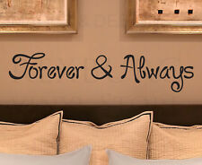 Wall Sticker Decal Quote Vinyl Art Removable Saying Forever and Always Love L06