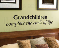 Wall Decal Quote Sticker Vinyl Art Lettering Grandchildren Circle of Life F87