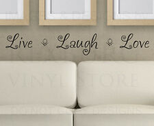 Wall Decal Sticker Quote Vinyl Lettering Adhesive Graphic Live Laugh Love H15