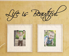 Wall Decal Quote Sticker Vinyl Art Lettering Letter Large Life is Beautiful IN50
