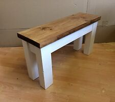 Chunky Handmade Rustic Wooden Bench/ Pew - Choose a size and Colour