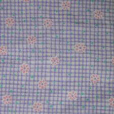 Quilt Fabric Purple Floral Check-Wishes by Springs Industries: FQ & Cut-to-Order