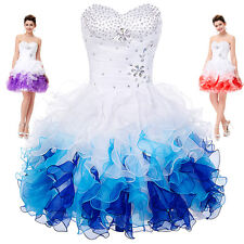 Hot Short Prom Organza Quinceanera Prom Dress Formal Bridesmaid Party Ball Gown
