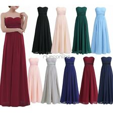 Womens Long Chiffon Wedding Evening Formal Party Ball Gown Prom Bridesmaid Dress