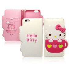 Hello Kitty iPhone 7 Case Wallet Cover Clutch Made Korea Heart Mug 4 Colors