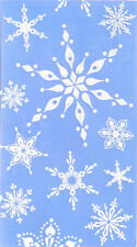 Cypress Home Blue and White Snowflakes Embossed Paper Guest Towel, 15 count