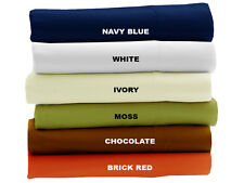 1 PC Bed Skirt 1000 TC Egyptian Cotton 15 Inch Drop Length Solid-Colors US Size