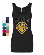 If You See Da Police Warn A Brother Tank Top Funny Parody Top