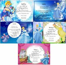 CINDERELLA Personalised Girls Princess Party Invitations Thank You Cards A6 +Env