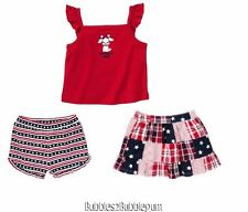 Gymboree 4th of July outfit skirt shorts top New NWT girls 2T stars stripes