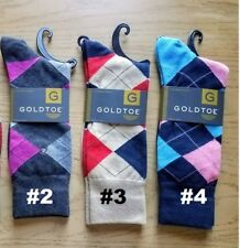 2 of GOLD TOE Mens Premier Cotton Blend Dress Multi-Color Socks 10-13 for $15.50