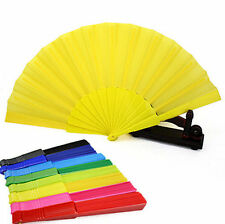 Japanese Plastic Chinese Decor Party Hand Folding Wedding Fan Dancing Portable