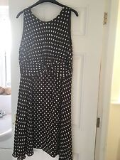 Beautiful Brown and White Spotted Dress - Wallis - Size 20
