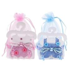 12x Baby Cloth Organza Gift Bags Baby Shower Candy Favors Bags Pink/Blue
