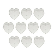 10Pieces Clear Plastic Tealight Cups Cute Candle Mold Wax Containers