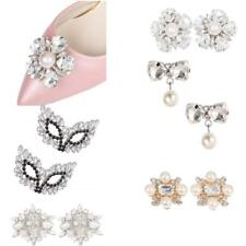 1 Pair Rhinestone Crystal Wedding Bridal Shoe Clips Women Chic Craft