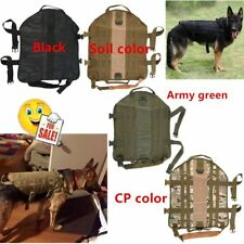 Tactical Outdoor Military Dog Clothes Load Bearing Training Vest Harness CL