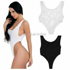 Sexy Womens One-Piece Backless High Cut Lingerie Swimwear Leotard Thong Bodysuit