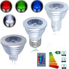 1-10pack MR16 E27 16 Color Changing RGB LED Flash Light Bulb & Remote Control US