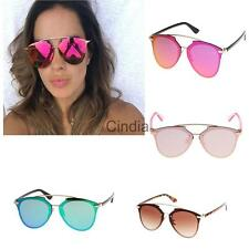 Ladies HD Lens Gridding Sunglasses 80s Retro Summer Shade PC Eyewear Men's Women