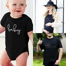 Couple T-Shirt Daddy Mama Baby Funny Letter Print Shirts Family Clothes Tee Tops