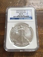 2014 1 oz. Silver American Eagle Dollar - Early Release - NGC: MS70