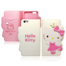 Hello Kitty iPhone 7 Wallet Case Cover Clutch Made Korea Rose Queen 4Colors