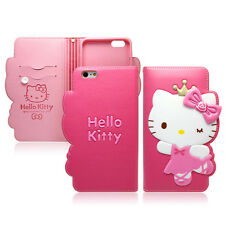 Hello Kitty iPhone 7 Plus Wallet Case Cover Clutch Made Korea Rose Queen 4Colors