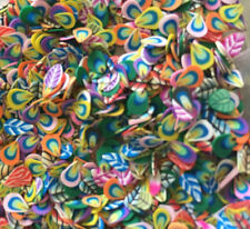 leaves fimo cane slices for nail art,dolls house,card making