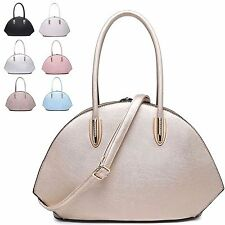 Ladies Stylish Fx Leather Diamante Clasp Bag Handbag Shoulder Grab Bag MA34716