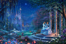 Cinderella Dancing in the Starlight Thomas Kinkade GP 18 Paper 28x42 Disney