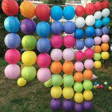 """Multicolor Chinese Paper Lantern Wedding Birthday Party Decoration 10"""" 12"""" 16""""FF"""