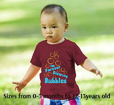Babys and kids West Ham United football song I'm Forever Blowing bubbles t-shirt