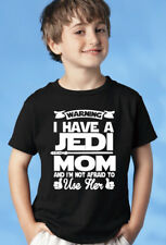 Warning! I Have A Jedi MOM. Funny Star Wars Youth T-shirt. Sizes 2-3T, XS-XL.