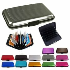 Slim Business ID Credit Card Wallet Holder Aluminum Metal Pocket Case Box CO